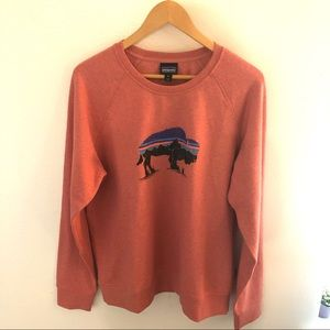 Patagonia XL Fitz Roy Buffalo Crew Neck Sweater